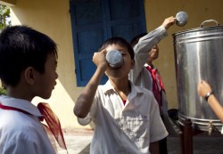 Safe drinking water could reduce school sick days in developing countries