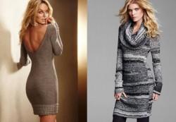 Шерстяное платье для зимнего сезона