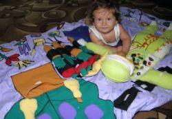 Развивающий коврик для малыша: как его сделать своими руками