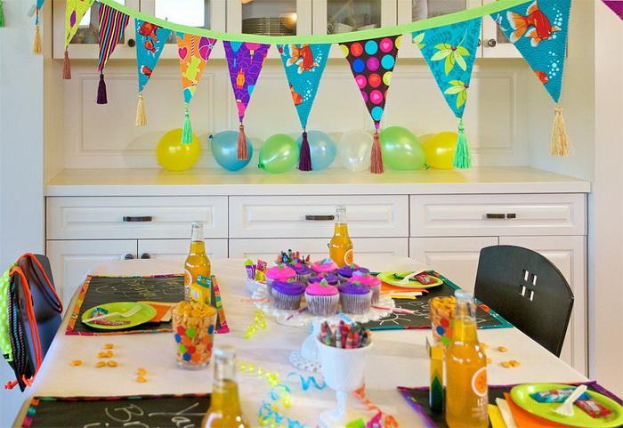 Украшаем комнату ребенка к его дню рождения