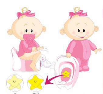 Наклейка-мишень для детского горшка
