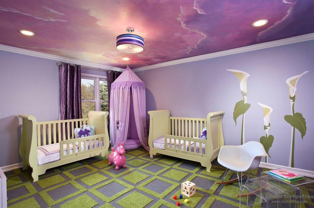 Натяжные конструкции для детской от «Seven Sky»