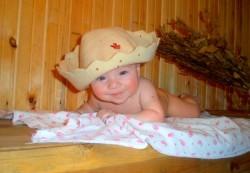 Ребёнок в бане