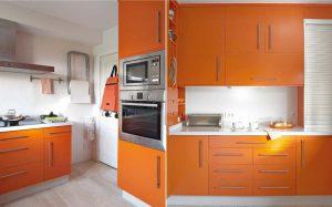 Все особенности дизайна оранжевой кухни