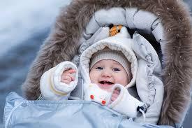 Прогулки с новорожденным зимой