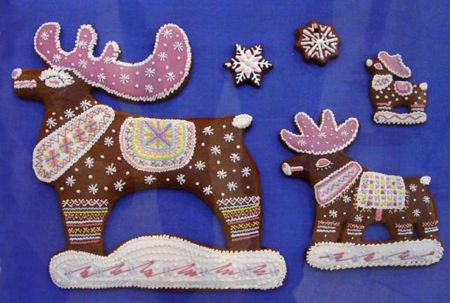 Рождественские козули из пряничного теста