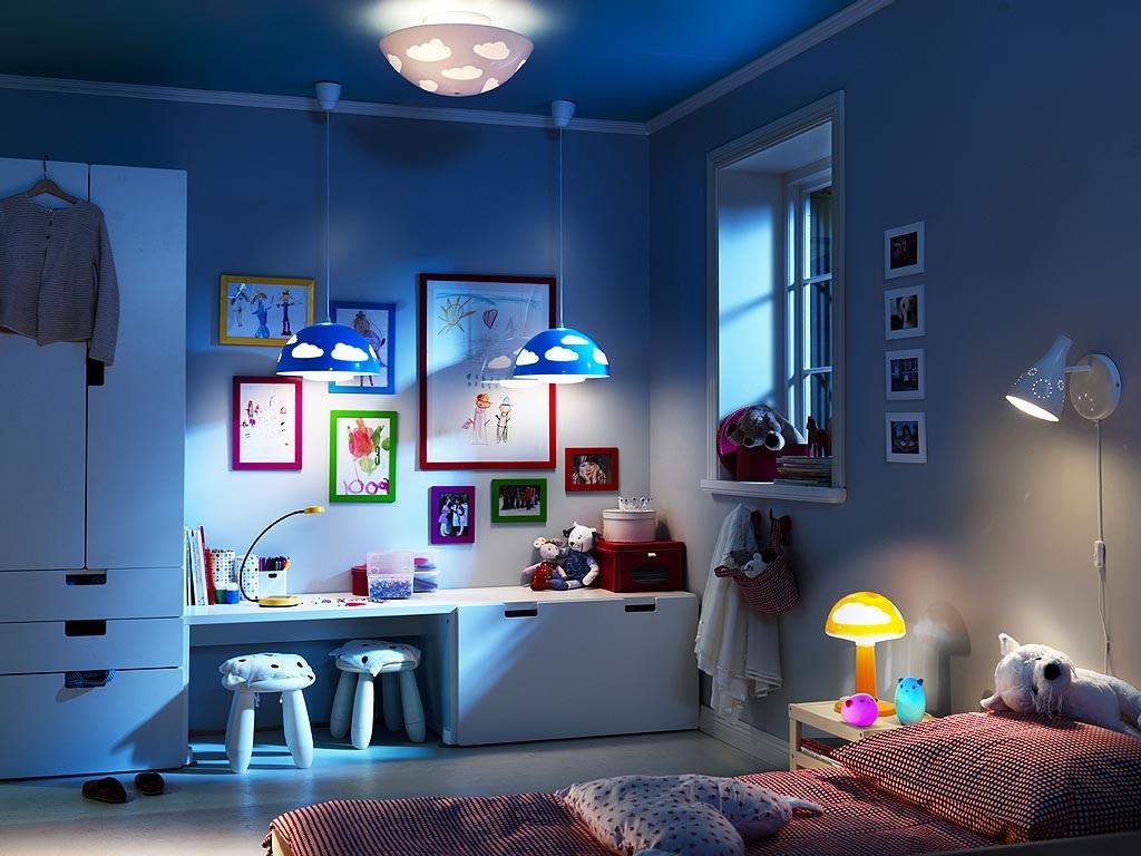 Выбор освещения для детской