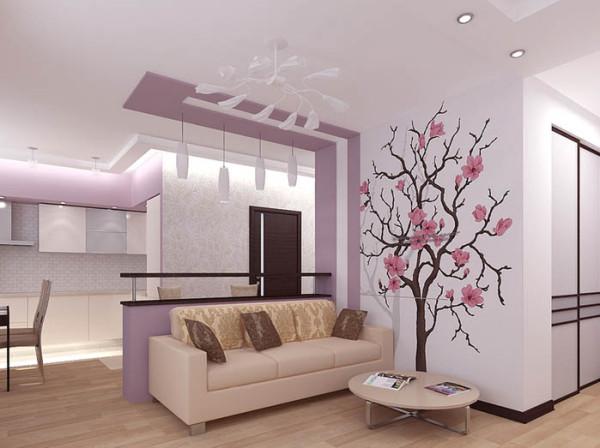 Использование трафарета для декорирования стен
