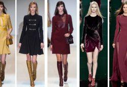 О модных платьях осени