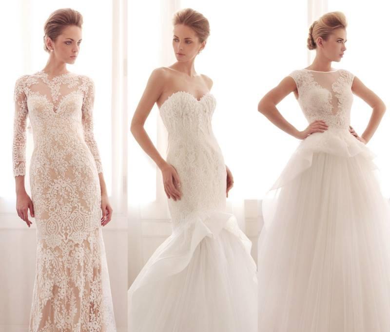 Типы кружев и кружевные свадебные платья