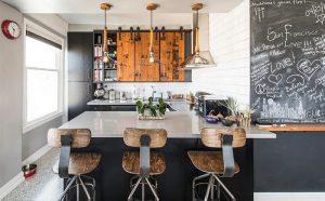 Современная кухня с индустриальными элементами