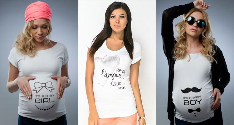 Стильные футболки для беременных в интернет магазине «На сносях»