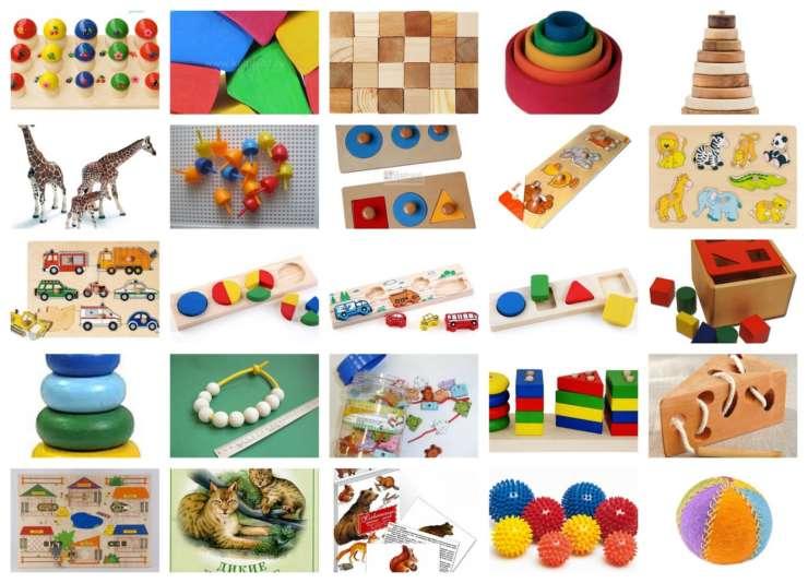 Знакомство детей с развивающими игрушками