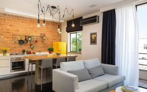 Кухня-гостиная: зонирование помещения