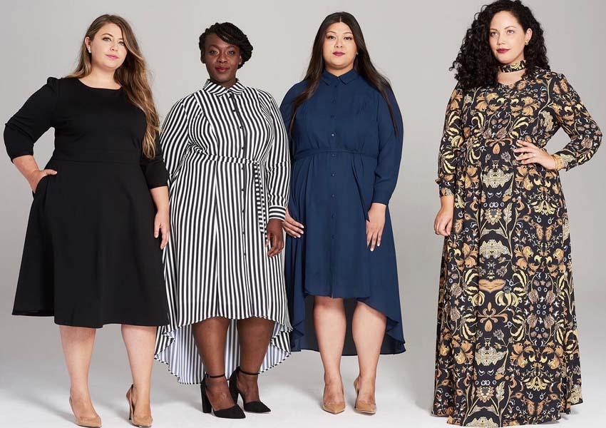Модные женские платья больших размеров