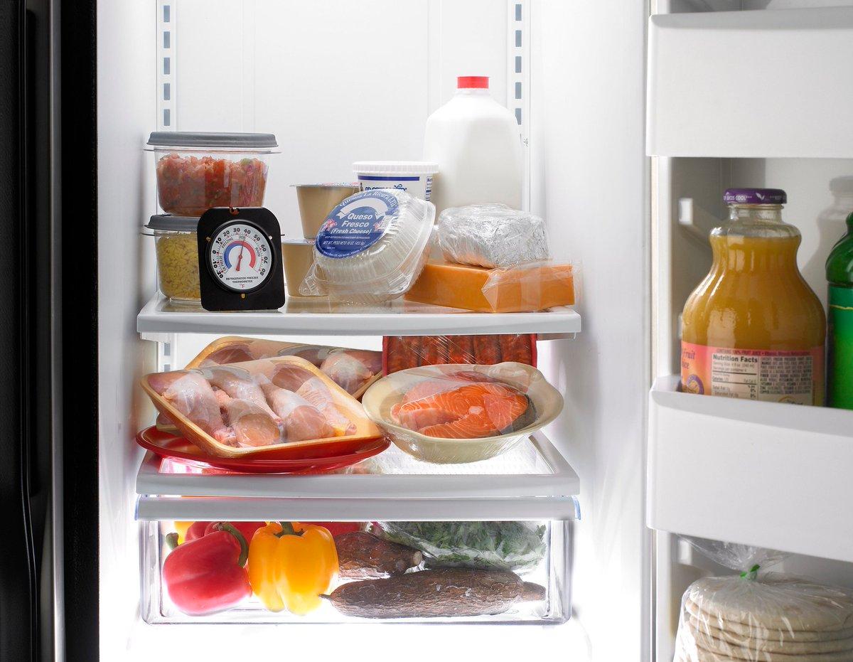 Как сохранить в холодильнике свежие продукты