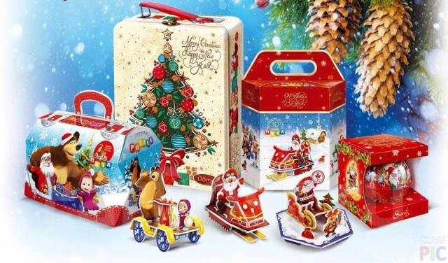 Наполнение сладких новогодних подарков — продукция Акконд