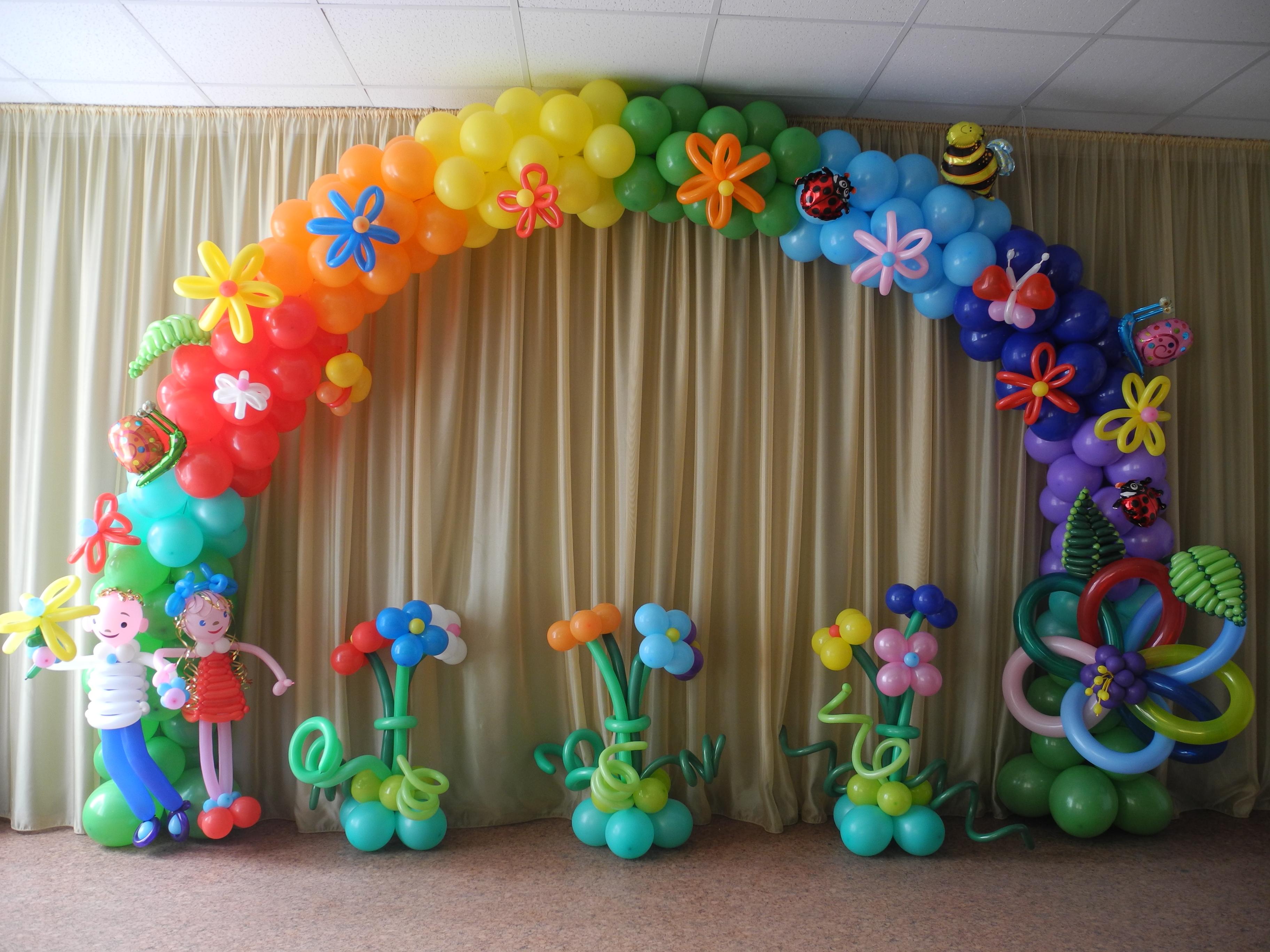 Использование надувных шаров на праздники