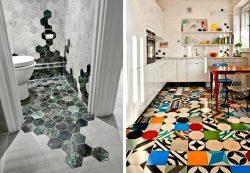 Нестандартные решения использования кухонной плитки