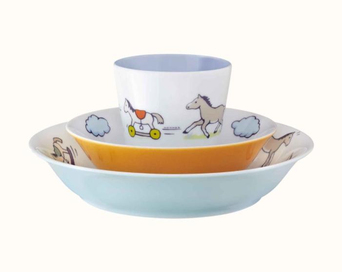 Детская посуда от знаменитого бренда Hermes